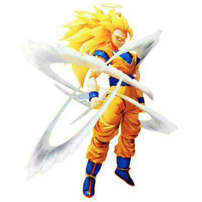 Vivid Dragon Ball Super Saiyan 3 Son Goku PVC 15cm Action Figure Janpanese Anime Character Model Doll