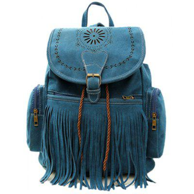 Retro Engraving and Fringe Design Women's Satchel