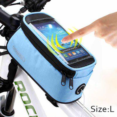 Roswheel 5.5 inch Bike Front BagBike Bags<br>Roswheel 5.5 inch Bike Front Bag<br><br>Color: Black,Red,Blue,Yellow<br>For: Cycling<br>Material: Polyester, PVC<br>Package Contents: 1 x Bike Phone Saddle Bag, 1 x Cable<br>Package size (L x W x H): 23.00 x 12.00 x 10.00 cm / 9.06 x 4.72 x 3.94 inches<br>Package weight: 0.201 kg<br>Product weight: 0.160 kg<br>Type: Saddle Bag