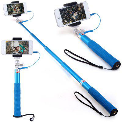 RK90E 3.5mm Jack Cable Connect RC Self Timer Stretch Monopod Camera Shutter with Clip Stand