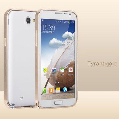 Buy GOLDEN Fabitoo Aluminium Alloy Bumper Frame Phone Cover Case for Samsung Note 2 N7100 for $6.77 in GearBest store