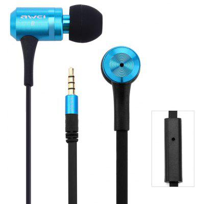 Awei ES100i 1.2m Flat Cable Design In - ear Earphone with Mic for Smartphone Tablet PC