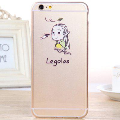 Practical Legolas Pattern 0.33mm Ultrathin Transparent TPU Back Case for iPhone 6 Plus  -  5.5 inches