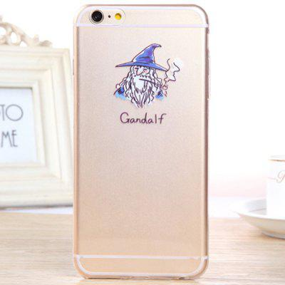 Practical Gandalf Pattern 0.33mm Ultrathin Transparent TPU Back Case for iPhone 6 Plus  -  5.5 inches