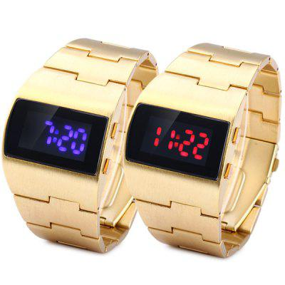 Rectangle Dial LED Sports Watch Date Stainless Steel Strap for MenSports Watches<br>Rectangle Dial LED Sports Watch Date Stainless Steel Strap for Men<br><br>Available Color: Red,Blue<br>Band material: Stainless Steel<br>Case material: Stainless Steel<br>Clasp type: Folding clasp with safety<br>Display type: Digital<br>Movement type: Digital watch<br>Package Contents: 1 x Watch<br>People: Male table<br>Product size (L x W x H): 13.4 x 4.0 x 1.0 cm / 5.3 x 1.6 x 0.4 inches<br>Product weight: 0.13 kg<br>Shape of the dial: Rectangle<br>Special features: Date, Light<br>The band width: 2.5 cm / 1.0 inches<br>The dial diameter: 4.0 cm / 1.6 inches<br>The dial thickness: 1.0 cm / 0.4 inches<br>Watch style: LED