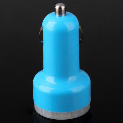 Buy BLUE Dual USB Interface Car Charger 2.1A / 1A for $2.33 in GearBest store