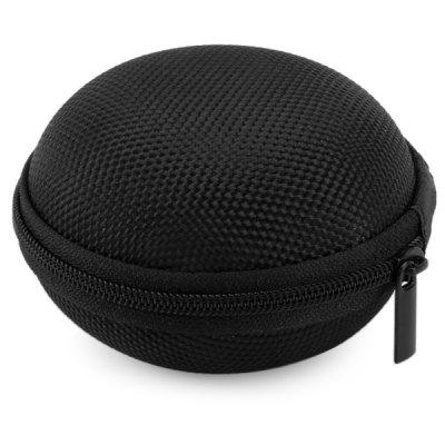 Gearbest Durable Earphone Bag Small Coin Storage Box - BLACK