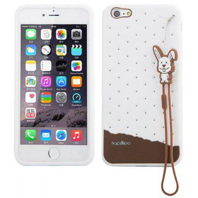 Fabitoo Lanyard Design Silicone Back Cover Case for iPhone 6 Plus  -  5.5 inches