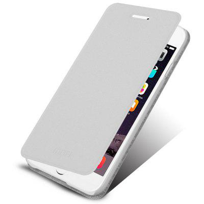 Buy WHITE Mofi Practical Ultrathin PU and PC Cover Case for iPhone 6 Plus 5.5 inches for $4.21 in GearBest store
