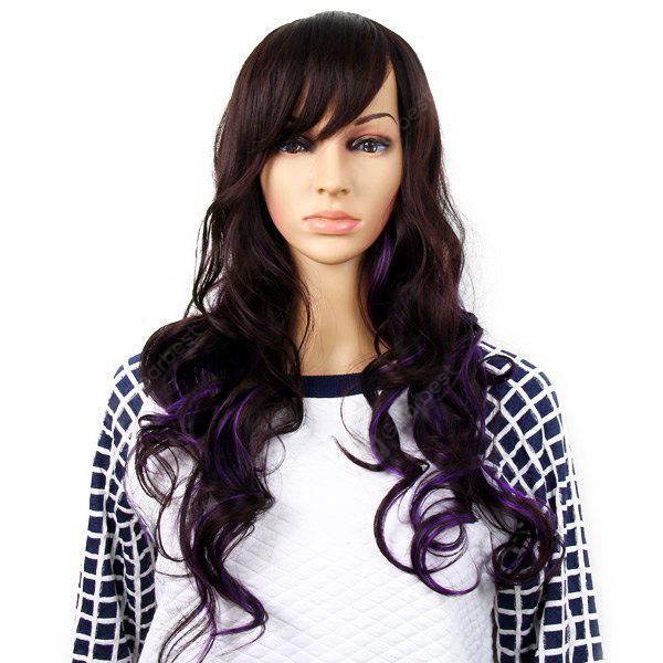 Highlight Women Curly Long Hair Periwig Hairpiece Wig With Fringe