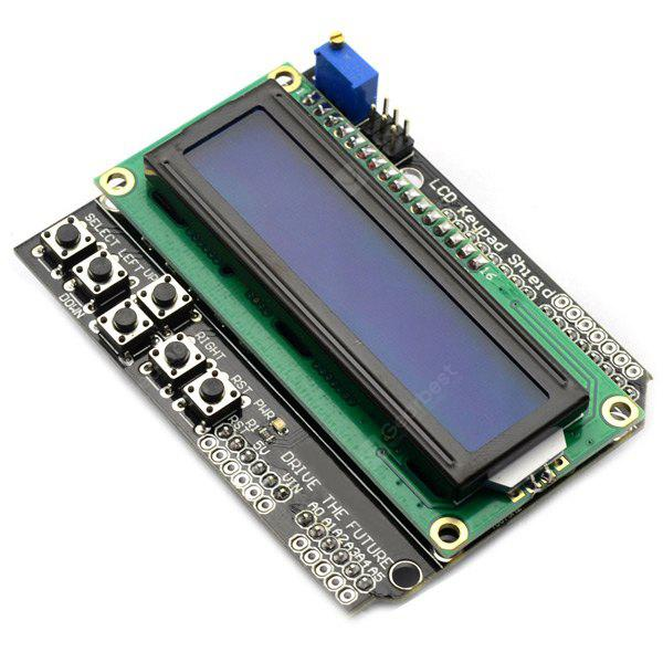 LCD1602 Character LCD Keypad Shield Input Output Expansion Board Works with Arduino