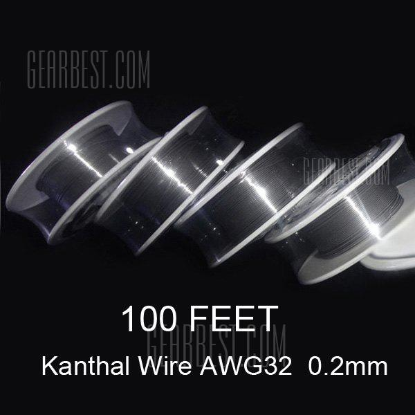 0.2mm Diameter Kanthal Resistance Wire Roll E - cigarette Coils for Atomizers DIY ( 100 Feet )