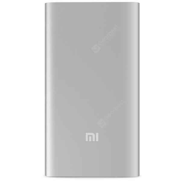 Original Xiaomi 5000mAh Li-Polymer Battery Mobile Power Bank Portable Charger with Power Indicator