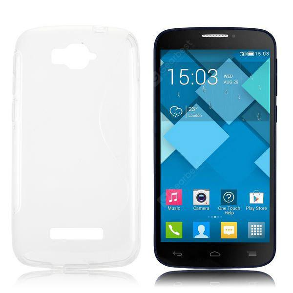 S Shape TPU Retour Housse pour Alcatel One Touch Pop C7 OT-7040D
