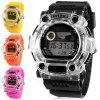 Shhors 750 LED Sports Military Watch Multifunction with Day Date Alarm Stopwatch Water Resistant - BLACK