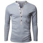 Buy LIGHT GRAY, Apparel, Men's Clothing, Men's T-shirts, Men's Long Sleeves Tees for $5.77 in GearBest store