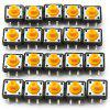High Performance 12 x 12mm 4Pin Tact Switches DIY Project  -  ( DC 12V 50mA / 50PCS ) BLACK