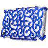 Hollow - out Style Protective Back Cover Case with Plastic Material for iPhone 4 / 4S - BLUE