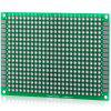 High Performance 5 x 7cm Double Sided Glass Fiber Prototyping PCB Breadboard for DIY Project  -  5PCS - GREEN