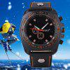S - 1032 Decorative Sub - dial Sports Watch with Large Dial Bright Color Leather Band - RED