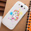 Fabitoo Cartoon Painting Phone Back Cover Plastic Case for Samsung S3 i9300 - SHALLOW PINK