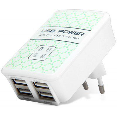 4Ports DC 5V 3500mA High Efficiency USB Power Adapter Charger Quick Charge