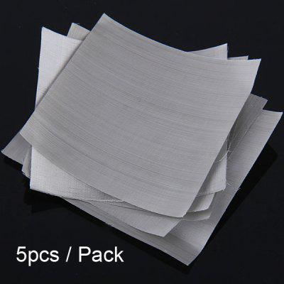 5pcs / Pack 400 Mesh Nickel Mesh Sheet for E - cigarette Atomizers DIY ( 5cm x 5cm )