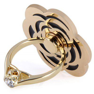 Adjustable Handheld Ring Phone Holder Rose Design Bracket