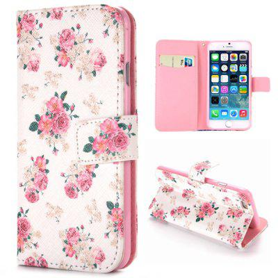Beautiful Flower Full Body Case with Credit Card Holder Stand Function for iPHone 6  -  4.7 inches