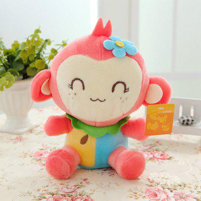 Cute 20cm Monkey Plush Doll with Flower Stuffed Toy Kids Gift