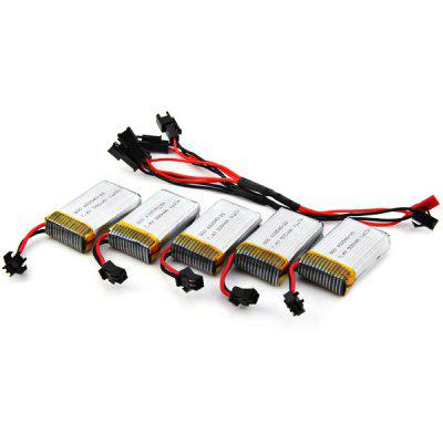 KH8C - 02 RC Helicopter Parts Set 500mAh 7.4V Battery + Charging Cable