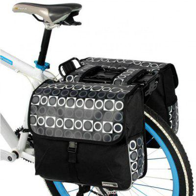 Roswheel Practical Bicycle Saddle Bag 28L Bike Rear Rack Tube Pack