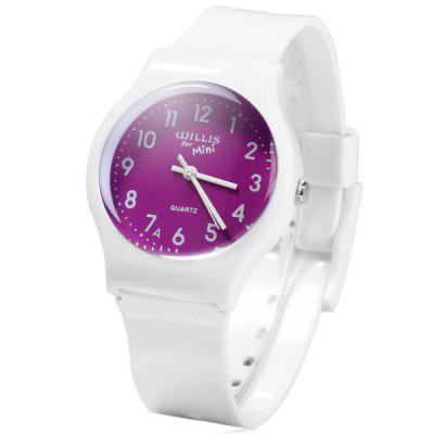 Willis Bright Colors Quartz Watch Rubber Wristband for Women
