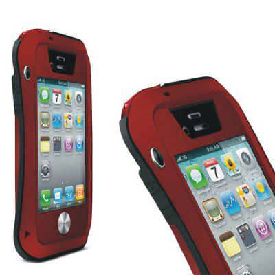 LOVE MEI Shockproof Waterproof Case Phone Cover for iPhone 4S / 4