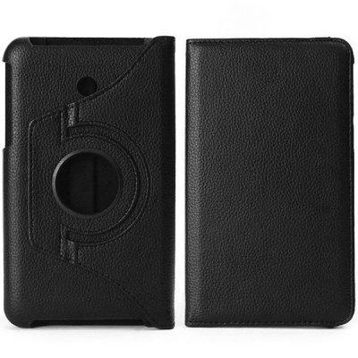 Litchi Texture Design PC PU Leather 360 Degrees Rotation Case with Elastic Belt Stand Function for ASUS Fonepad 7 FE7010CG
