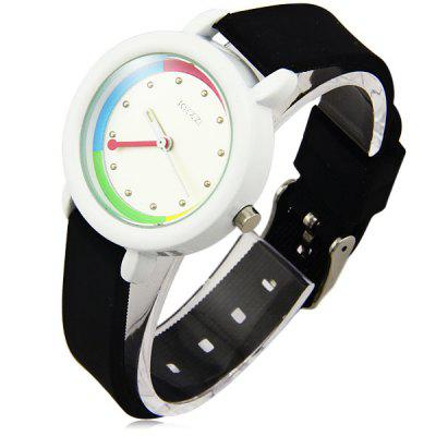 Kezzi Women Wristwatch Quartz Watch with Leather Band