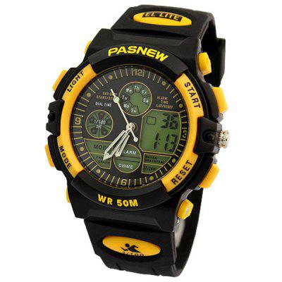 Pasnew PES - 048B Multi - function Digital Analog LED Sports Military Watch Water Resistant