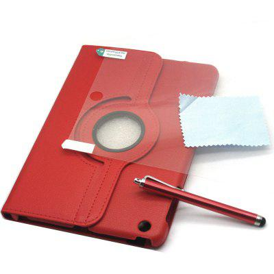 3 in 1 360 Rotatable Holder PU Leather Cover / Stylus / Guard Film Kit for iPad Mini 1 / 2