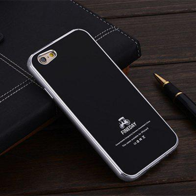 FINEDAY 5.5 inch Tempered Glass Back Case with Metal Bumper Frame Phone Cover Case for iPhone 6 Plus