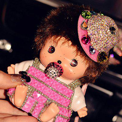 Universal Diamond Cartoon MONCHHICHI 8000mAh Mobile Power Bank External Charger with Lanyard