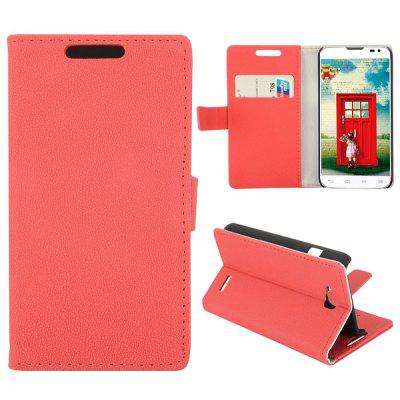 Gravel Texture Full Body PU Leather Case with Credit Card Slot Stand for LG L90 D405