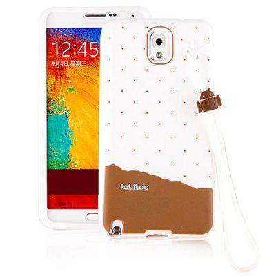 Fabitoo Lanyard Design Silicone Back Cover Case for Samsung Galaxy Note 3 N9000