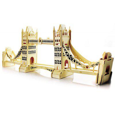 Innovative Three - dimensional Wooden London Bridge DIY Simulation Model