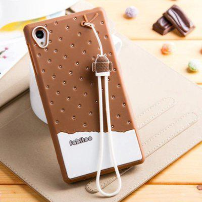 Fabitoo Lanyard Design Silicone Back Cover Case for Sony Xperia Z1 L39h