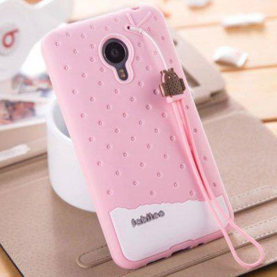 Fabitoo Lanyard Design Silicone Back Cover Case for Meizu MX4