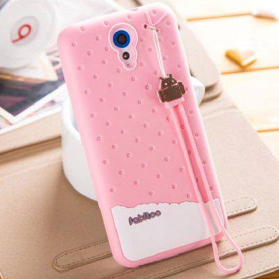 Fabitoo Lanyard Design Silicone Back Cover Case for HTC Desire 820 mini