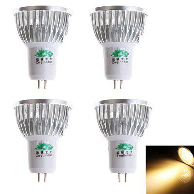2 Pairs of Zweihnder 280LM 3W MR16 3 x Epistar 3000  -  3500K LED Spot Lamp ( 110  -  240V )