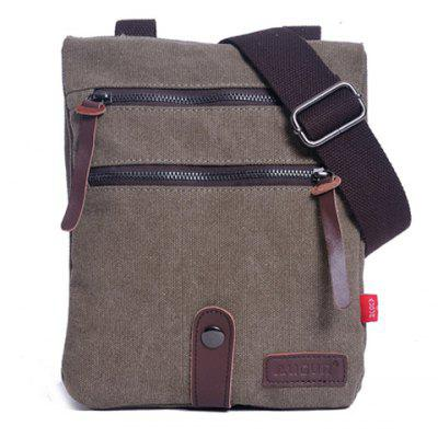 Trendy Canvas and Zipper Design Men's Messenger Bag