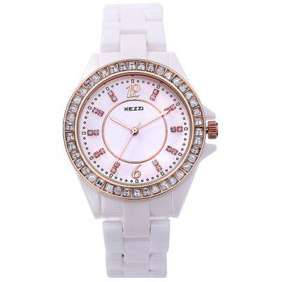 Kezzi Diamond Bezel Ladies Analog Quartz Watch