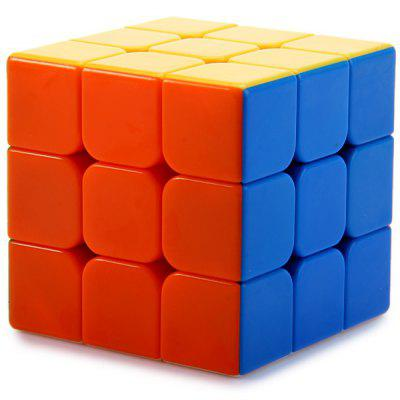 QY394 - 5 3x3x3 Magic Cube Brain Teaser Educational Toy ( Three Layers )